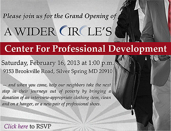A Wider Circle-Center for Professional Development Grand Opening Invitation